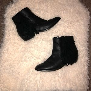 Shoe Cult Black fringe booties